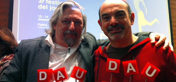 Arve D. Fühler und Bruno Cathala – Gewinner des DAU Barcelona 2014